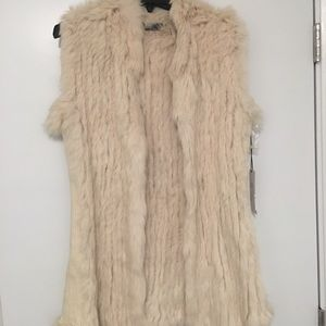 New with tags Love Token Rabbit Fur vest